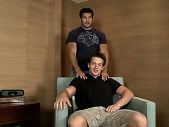 Forest Winters gets to spend his second Randy Blue video with the handsome face of Leo Giamani impaling itself on his aching hardon.