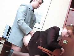 Penelope and Adam office hose sex movie scene