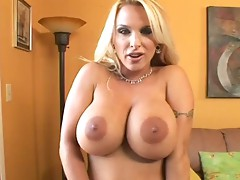 Large titted Holly Halston widens it for Troy Halston