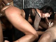 Cecelia Vega interracial group sex