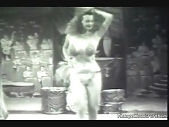 Vintage exotic dancer