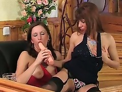Alice and Jaclyn horny nylon action