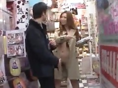Ai Sayama Asian chick likes public action