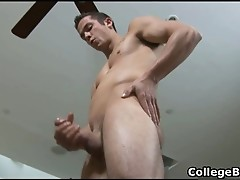 Jay Smith wanking his fine college cock