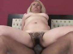 Sexy Blonde Victoria Santos gets her sexy curly twat drilled