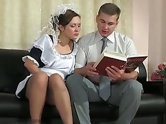 Mima and Peter office pantyhose sex movie