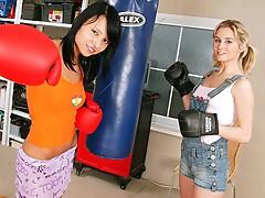 Lesbo boxing girls