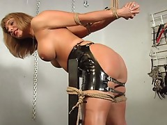 Blonde mlf babe bondage and anal toying