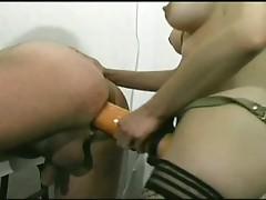 Horny brunette in stockings get hot medical examination