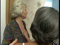 Lesbian grannies masturbate to young horny men