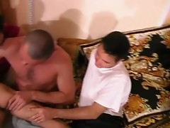 Three guys sucking cock until they get a cumshot