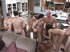 Gangbang sluts and orgy lovers in sizzling hot group fucking fun