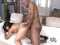 Sky jolie's big oiled up ass gets nailed