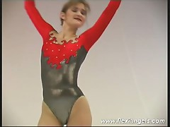 Young ballerina alina bending her body to the limit