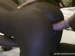 Horny petite african babe, tiny gets interracial action