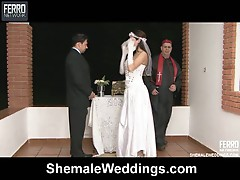Just married shemale couple fucking
