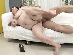 Somebody's fat granny getting her big white ass fucked