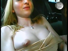 Amateur blonde touching her pussy