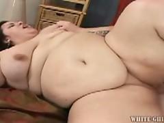 Heavy weight massive tits fat brunetet fucked hard