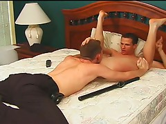 Horny young gay guys hump each other