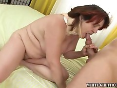 Hot granny fucked by young dude