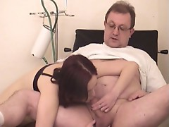 Dr. exam turns into a weird sex experience for this brunette