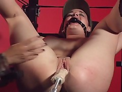 Watch how this defenseless cunt is tortured at bondage bootcamp