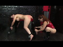 Fetish bdsm lesbians love the spanking