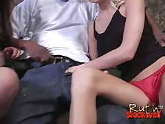 Cum starving white chicks sharing enormous black boner