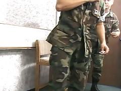 Hardcore army studs suck cock