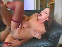Big titty girl is horny for cock and sex