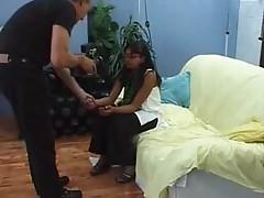 Sweet Indian girl sucking a dick