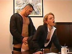 An office fuck clip with two scenes