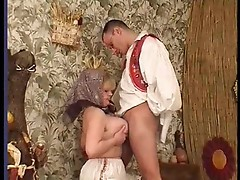 Fucking his mature aunt from behind