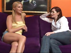 Aunt and her sexy niece having lesbian sex