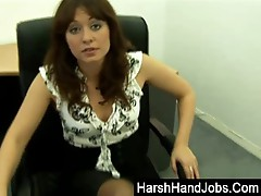 Renee Richards giving a harsh handjob