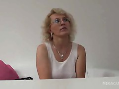 Mature in glasses has a good fuck