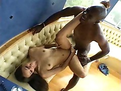 Arousing stockings girl devouring big cock
