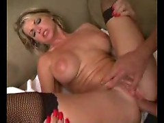 Massage for blonde bimbo leads to anal sex