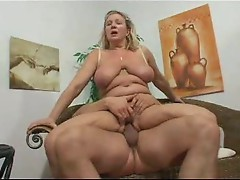 His slutty aunt loves his cock meat