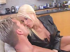 Mega hot blonde wants his dick