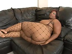 Huge black girl taking a thick black cock