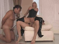 Cuckold hubby watches wife ride cock