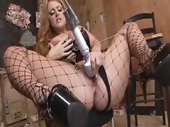 Nice big cock fucking a hot redhead in ass