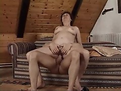 He wants to make the mature brunette orgasm