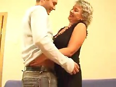 Hot mature Russian blonde banged by young man