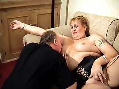 Chubby slut licked and fuck from behind