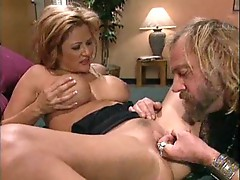 Wife banging a manly man while he watches