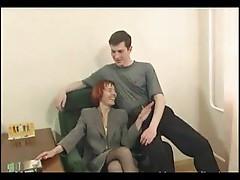 Mature redhead having hot anal sex
