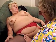 His cock fucks a fat mature slut